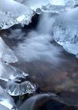 冻结的小河 图库摄影