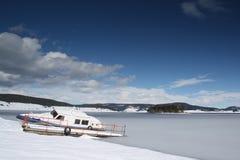 冻结的小船 免版税库存图片