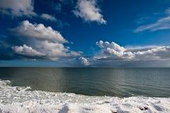 冻结的横向冬天 图库摄影
