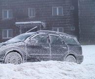 冻结的汽车 免版税库存图片