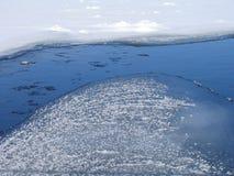 冻结的河 库存照片