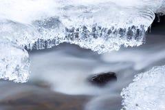 冻结的流冬天 库存照片