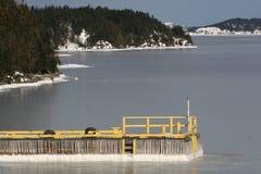 冻结的海湾 免版税库存图片