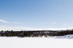 冻结的湖横向 免版税图库摄影