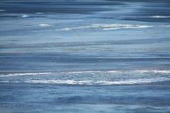冻结的湖纹理 库存图片