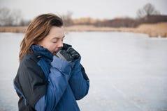 冻结的现有量-冬天生活方式 库存照片