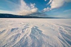 冻结的贝加尔湖 免版税库存照片