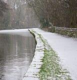 冻结的运河 图库摄影