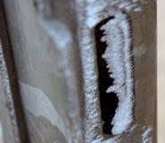 冻结的门在冬天 免版税库存照片