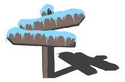 冻结符号木头 库存图片