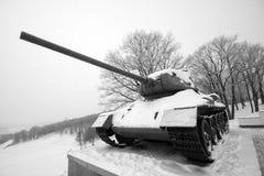 冻结老俄国坦克wwii 库存图片