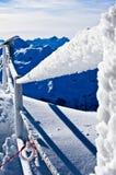 冻结范围在冰川顶部 免版税库存图片