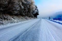 冻结路 免版税库存照片