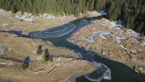 冻阿拉斯加的沼泽地 影视素材
