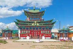 净土佛教寺庙 免版税库存图片