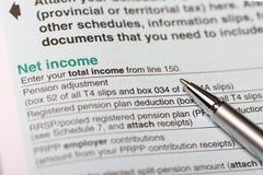 净收入 免版税图库摄影