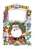 凄惨的圣诞老人 免版税库存照片