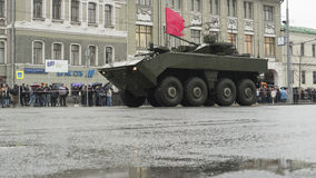 准备一次军事游行在莫斯科 免版税库存照片