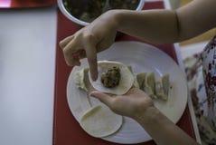 准备中国饺子4 图库摄影
