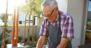 准备在烤肉4k的老人鱼 影视素材