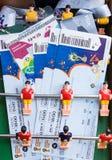 准备在2017年输入联邦杯和世界杯比赛2018年在俄罗斯 被设置的爱好者-钛 库存照片