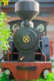 准备好一列古老蒸汽的火车留下驻地 库存图片