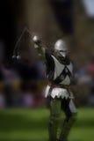 准备好争斗的骑士 库存照片