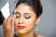 准备好印地安的模型新娘射击 免版税图库摄影