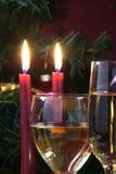 准备好圣诞节玻璃节假日的会议 库存照片