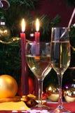 准备好圣诞节玻璃节假日的会议 库存图片