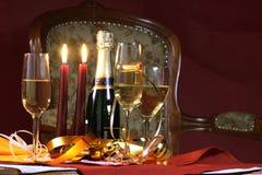 准备好圣诞节玻璃节假日的会议 免版税库存图片