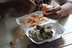 准备好外带的午餐 免版税库存图片