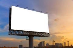 准备好待用空白的广告牌 免版税库存照片