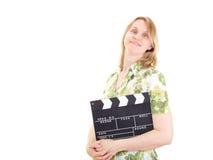 准备好的生产商拍摄新的电影 免版税库存照片