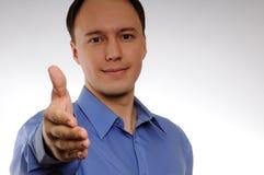 准备好的生意人握手 免版税库存图片