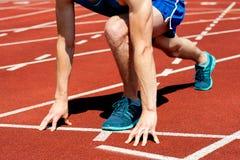 准备好的赛跑者种族 免版税库存照片