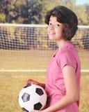 准备好的足球 图库摄影