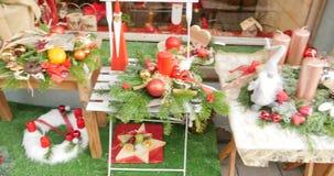 准备好花店的圣诞节 股票视频