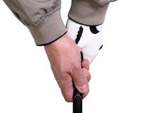 准备好高尔夫球的夹子 图库摄影
