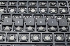 准备好黑个人计算机按钮 老键盘 库存照片