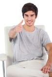 准备好年轻的人握手 图库摄影