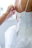 准备婚礼的新娘 库存照片