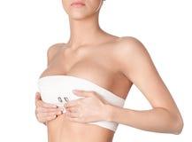 准备对乳房更正 免版税图库摄影
