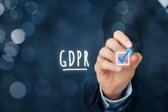 准备对GDPR 免版税库存照片