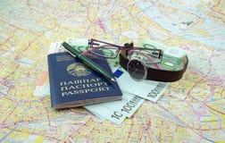 准备旅行 库存图片