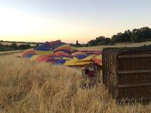 准备热空气气球 库存图片