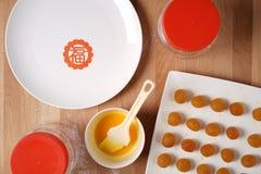 准备的厨房做中国欢乐物品 库存照片