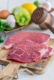 准备的炸肉排牛肉 免版税库存照片