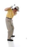 准备的高尔夫球运动员 免版税库存图片