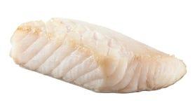 准备的pangasius鱼片片断 免版税图库摄影